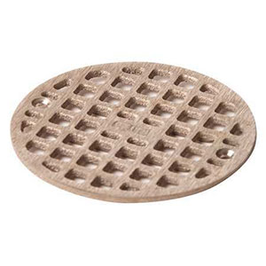 "Jay R. Smith A05NBG Nickel Bronze Grate 4 3/4"" Outside Measurement."