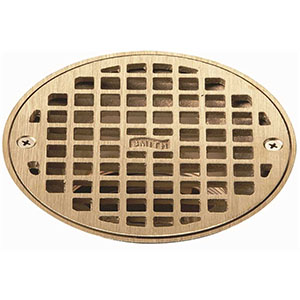 "Jay R. Smith A06NBG Round Floor Drain Grate, 5-19/32"" Nickel Bronze"