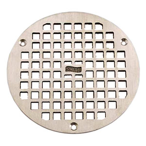 "Jay R. Smith A07NBG Nickel Bronze Grate 6 1/2"" Outside Measurement."