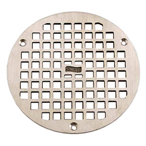 "Jay R. Smith A07PBG Round Floor Drain Grate, 6-7/16"" Polished Brass"